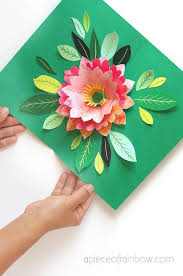 Homemade Card Templates Make A Birthday Card With Pop Up Watercolor Flower Free