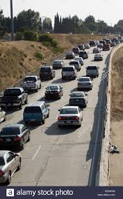 orange county traffic and freeway congestion showing gridlock near the garden grove freeway and tustin avenue california