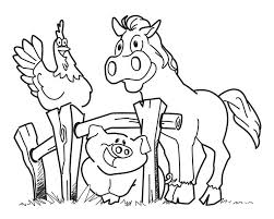 Farm Animals Coloring Pages Funny Farm Animals Coloring Page For