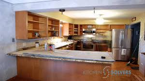 kitchen cabinet refacing time lapse of kitchen cabinet refacing
