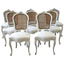 gorgeous outstanding french cane back dining chairs ing chairs set of eight vintage french painted cane