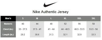 Nike Nhl Jersey Size Chart Size Chart Cheap Nfl Jerseys From China 100 Stitched Nfl