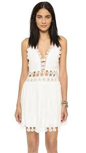 One By Honey Punch Lace Mini Dress Shopbop
