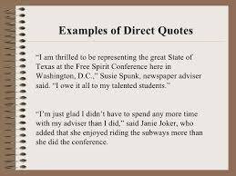 Direct Quotes Quotations