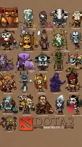 mini heroes dota 2 art full hd 2k wallpaper