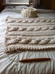 Cable Knit Blanket Pattern Magnificent Design Inspiration