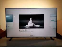 samsung has pre loaded a bunch of artwork onto this tv
