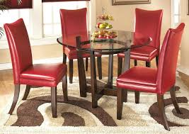 red dining room furniture table set chairs