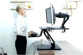 standing office table. Stand Office Desk Raised Up Chair Standing Workstation Table Decking Posts Paper For Depot . Sit