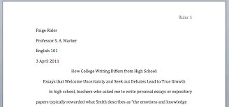 Title MLA Format Cover Page    good information for high schoolers and preparing kids for college