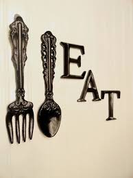 black kitchen wall decor large fork spoon wall decor by junkintime 32 75 on wall art for kitchens metal with black kitchen wall decor large fork spoon wall decor eat sign