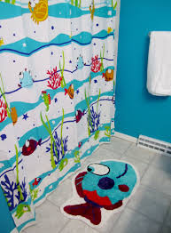 Childrens Bathroom Accessories Kids Bathroom Curtain