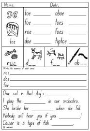 You'll get phonemic awareness, phonics, and reading. Oe Digraph Worksheet Printable Worksheets And Activities For Teachers Parents Tutors And Homeschool Families