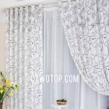 White Patterned Curtains