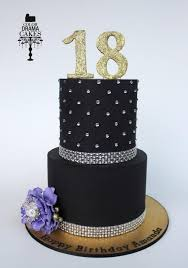 18th birthday cakes. black+and+bling+for+a+18th+birthday++-+cake 18th birthday cakes