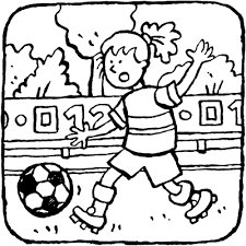 Sport Kleurprenten Kiddicolour