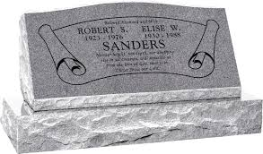 Design My Own Headstone 36 X 10 X 16 Serp Top Slant Headstone Polished Front And Back With 42 Base