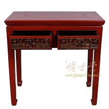red entry table. Chinese Antique Carved Red Lacquered Zhejiang Entry Table 17LP32