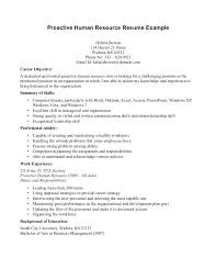 Entry Level Human Resources Resume Objective Human Resource Entry Level Resume 85