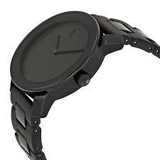 movado bold 42 mm large black dial black bracelet mens watch movado dial color black gender men s