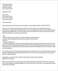Business Letter Template With Enclosure And Cc Sample Business