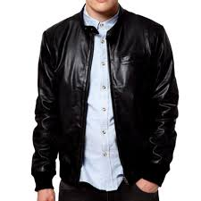 kevin s men leather shiny jacket