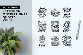 Hand drawn motivation lettering quote. Motivational Quotes Bundle Graphic By Weape Design Creative Fabrica