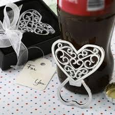 Filigree Heart Bottle Opener Favors