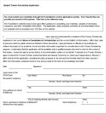 scholarship templates 15 scholarship application templates free sample example format