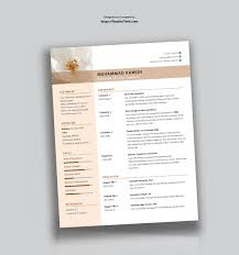 Free Clean And Minimalist Cv Template In Word Used To Tech