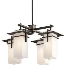 indoor outdoor modern mission 4 light chandelier from asian modern to contemporary mission this 4