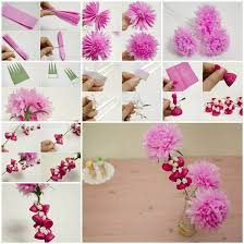How To Make Flower Using Crepe Paper How To Make Beautiful Crepe Paper Flowers And Chocolates