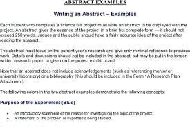 Template For Science Fair Project Report Examples Science Fair Abstract Template Format Project