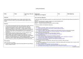 Literacy Unit Summary