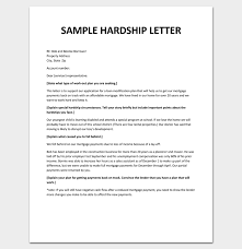 hardship sample letter hardship letter for loan modification pdf sample example