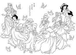 Small Picture All Disney Princesses Coloring Pages Free Download Coloring All