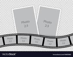 Film Picture Template Collage Of Photo Frames From Film Template Ideas Vector Image