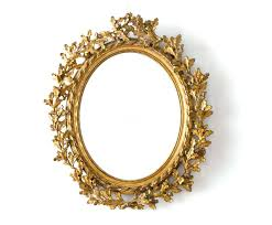 oval mirror frame in a gold stock image of carved wood wooden oval mirror frame wooden