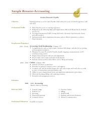 Good Resume Objectives For Accounting Clerk Bongdaao Com