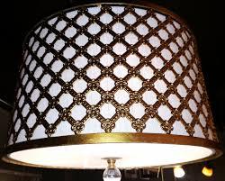 antique gold linen drum swag lamp antique gold pendant