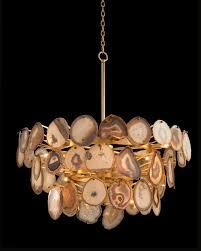 agate sliced chandelier