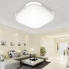 Đèn LED Âm Trần Vuông 24/36/48W, Đèn Trần Phòng Ngủ Phòng Khách Gắn Bề Mặt  #48W