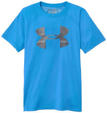 under armour shirts for boys. cheap boys under armour big logo polyester ua tech t-shirt royal blue grey shirts for g