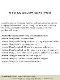 beauty consultant linkedin beauty consultant resume