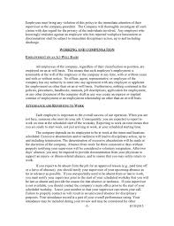 Sample Employee Handbooks Sample Employee Handbook In Word And Pdf Formats Page 5 Of 21