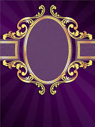 Purple Background Designs Golden Frame With Purple Background Vector Free Vector In