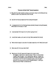 The Ransom Of Red Chief Plot Chart Ransom Of Red Chief Worksheets Teaching Resources Tpt