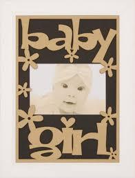 new baby girl gift wooden frame white wood black zoom