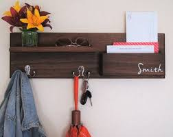 Floating Entryway Shelf Coat Rack Modern Entryway Organizer with Magnetic Key Hooks in Choice of 83