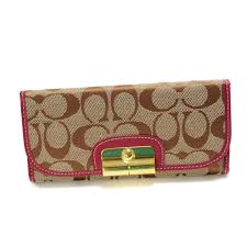 Discount Coach Kristin In Signature Large Fuchsia Wallets Dvo Outlet TPWby